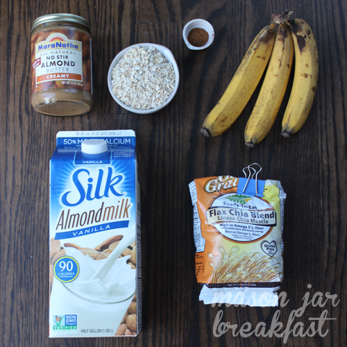almond butter overnight oatmeal ingredients