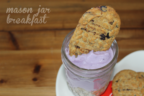 blueberry Belvita Biscuits & yogurt ready to eat