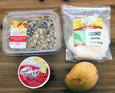 Mason jar breakfast recipe ingredients