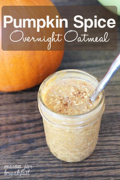 Creamy Pumpkin Spice Overnight Oatmeal