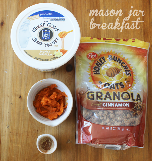 pumpkin spice & vanilla yogurt crunch parfait ingredients