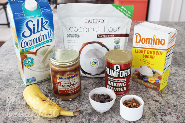 gluten free banana bread in a Mason jar recipe ingredients